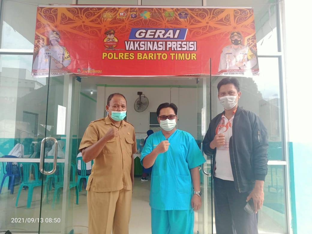 Vaksinasi Presisi SMA Negeri 1 Dusun Tengah
